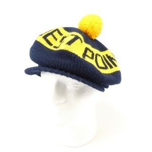 West Point Army Knit Pom Pom Visor Hat  (C18)